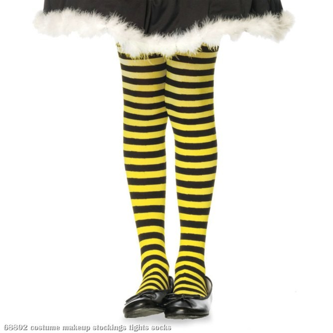 Striped (Black/Yellow) Child Tights