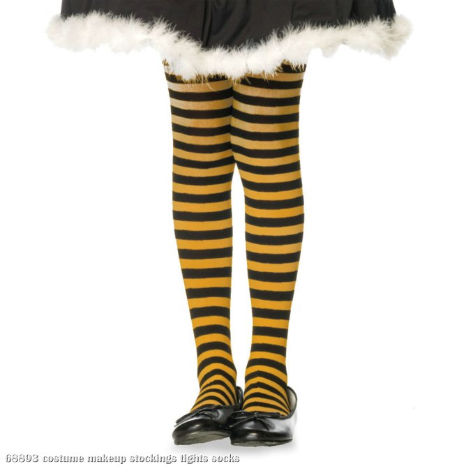 Striped (Black/Orange) Child Tights
