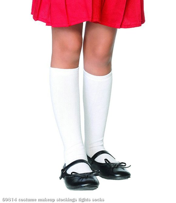 White Knee Socks Child