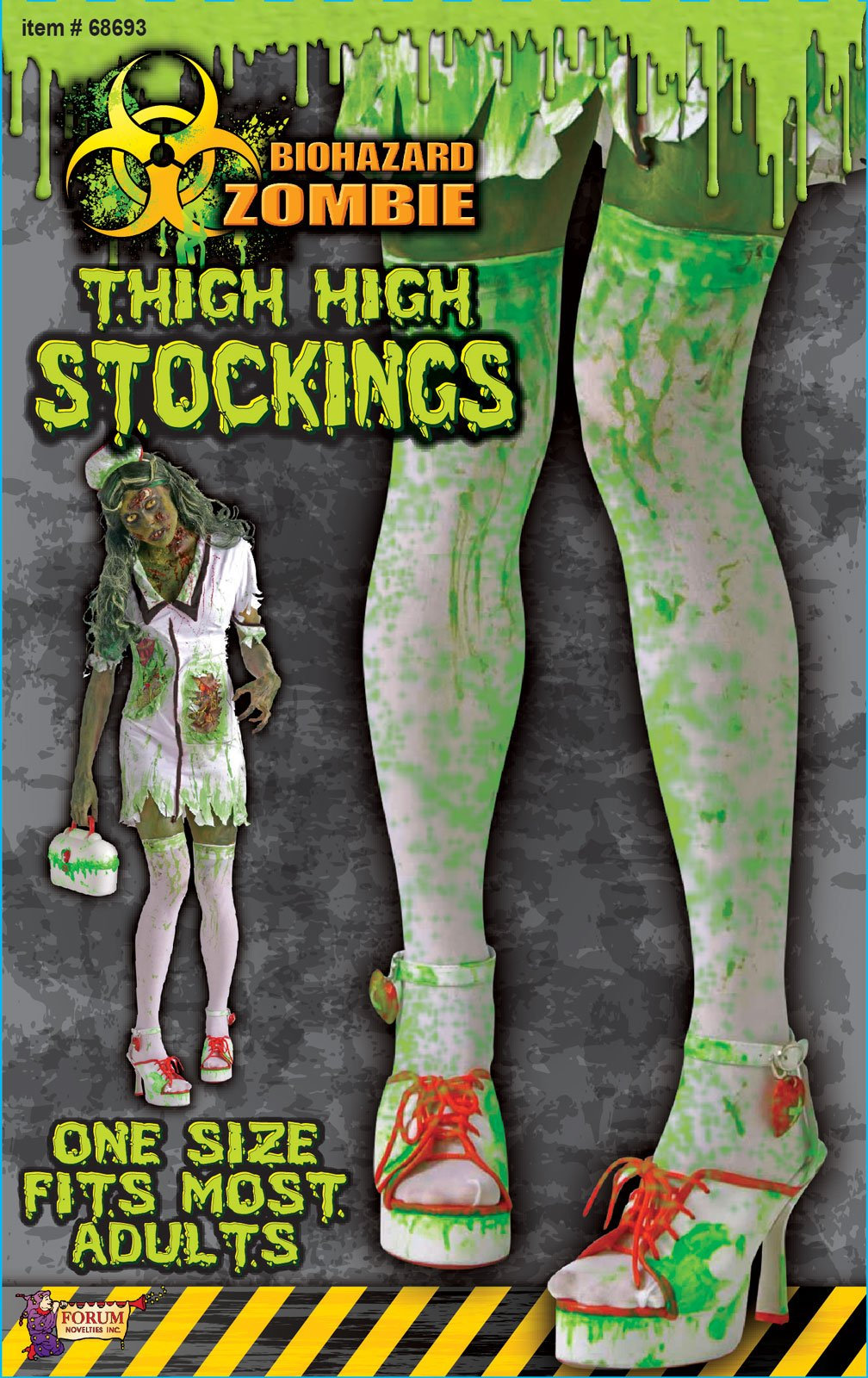 Biohazard Adult Thigh High Stockings