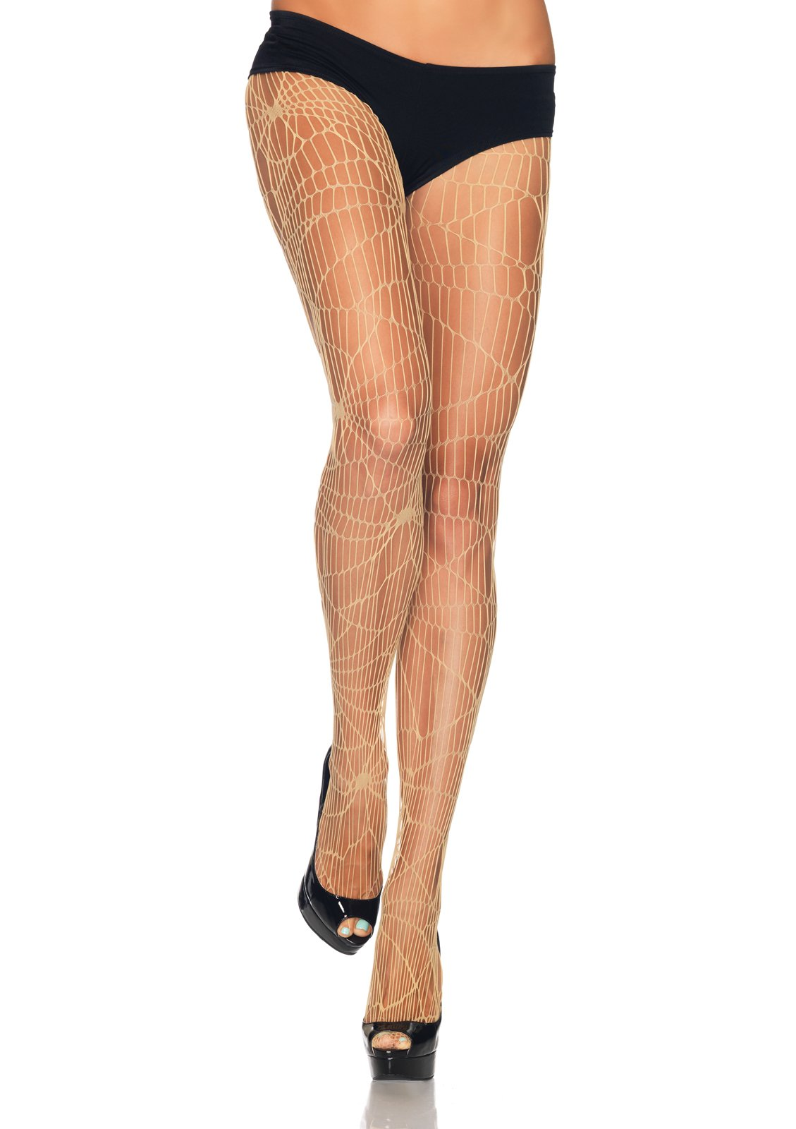 Distressed Net Nude Pantyhose (Adult)