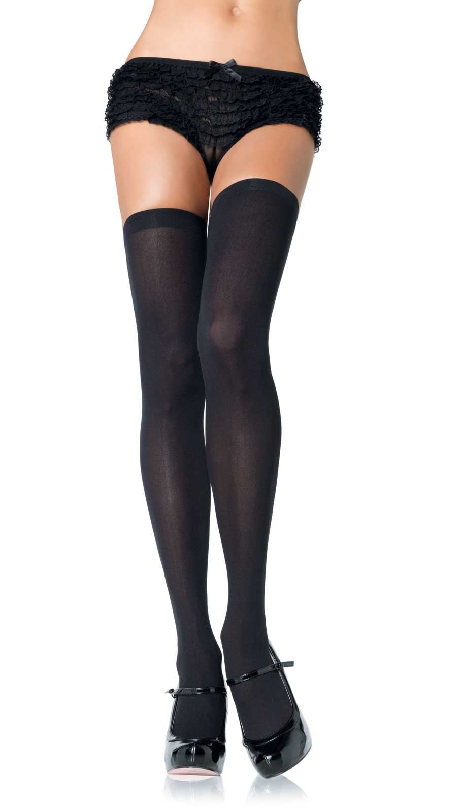 Opaque Thigh Highs Plus Adult