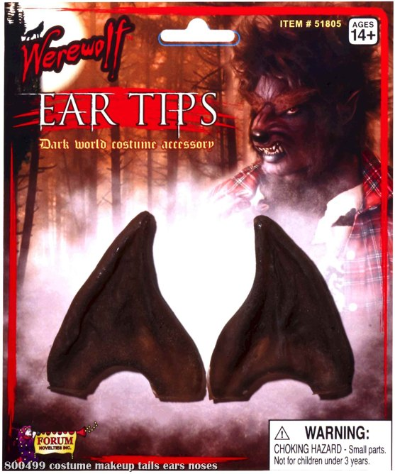 Werewolf Brown Ear Tips Adult