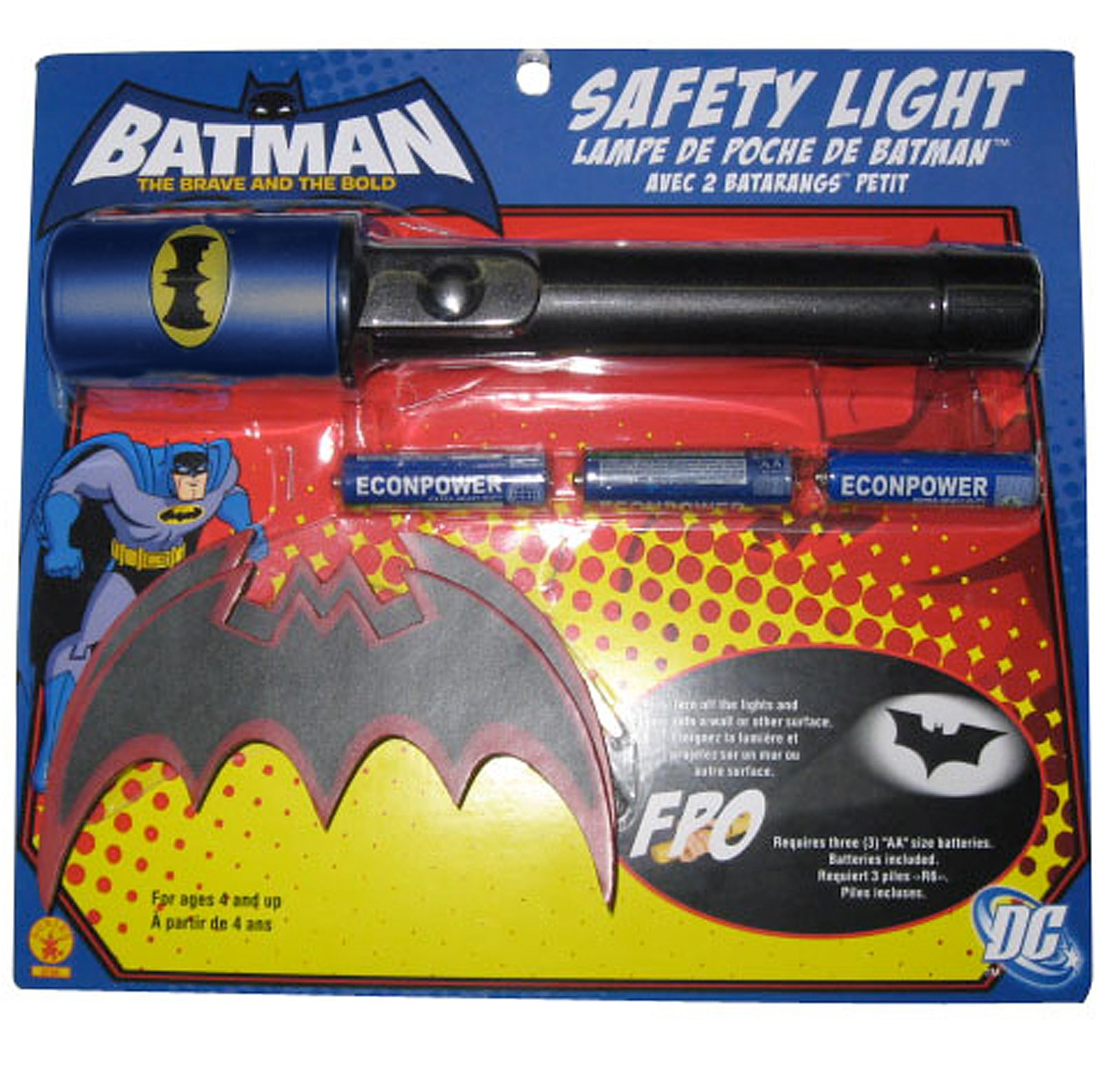 Batman Brave & Bold Flashlight & Batarang Kit