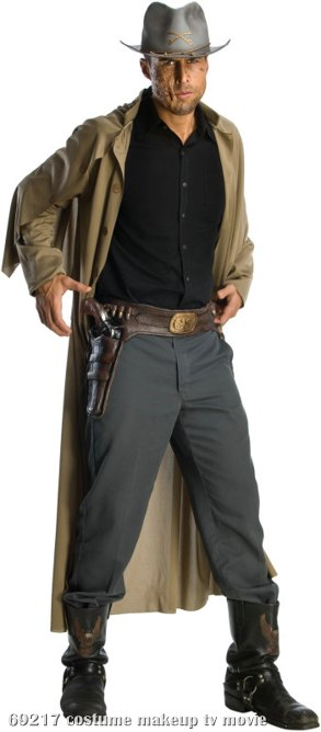 Jonah Hex Molded Vinyl Gun Belt With Attached Molded Weapons Adu