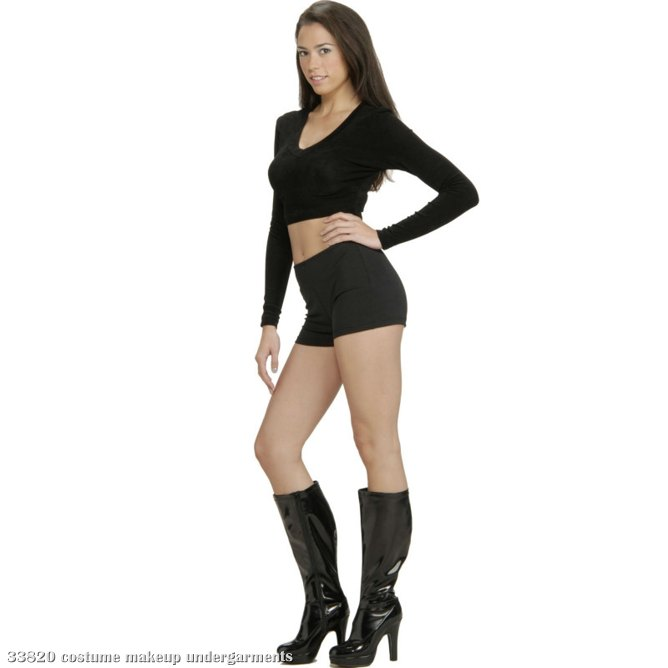 Black Hot Shorts Adult