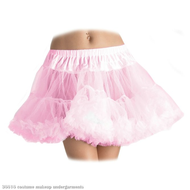 Layered Tulle Petticoat Pink - Plus