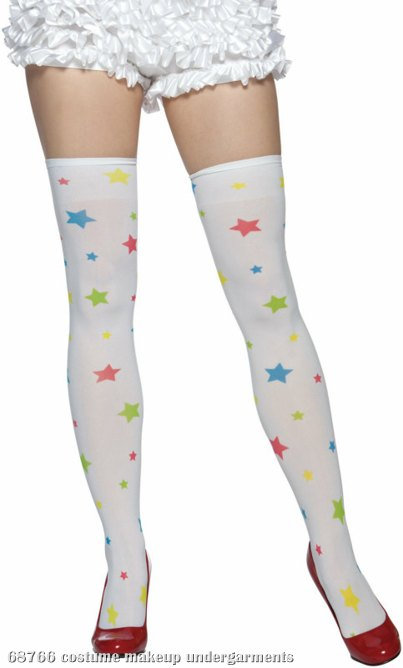 All Over Stars Adult Thigh Highs