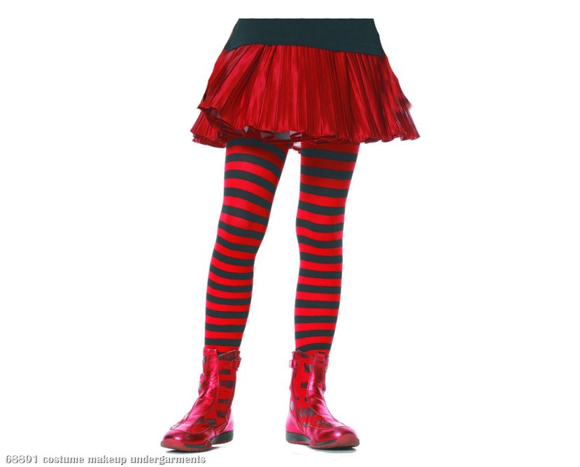 Striped (Black/Red) Child Tights