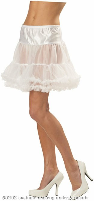 Ruffled Pettiskirt (White) Adult