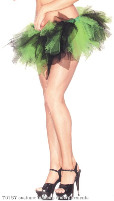 Green & Black Adult Petticoat