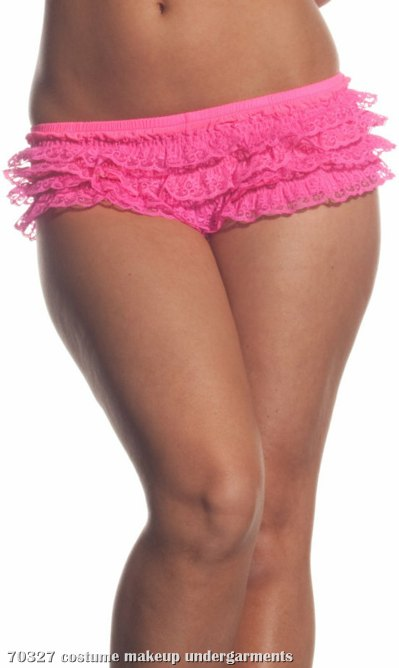 Ruffled Lace (Neon Pink) Adult Panties