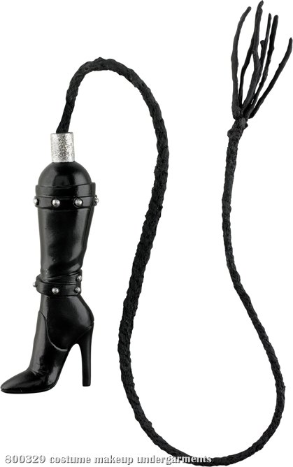 Black Boot Whip W/ Garter (Adult)