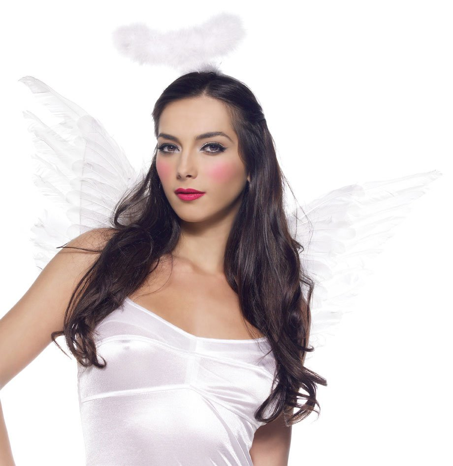 White Deluxe Feather Angel Accessory Kit (Adult)