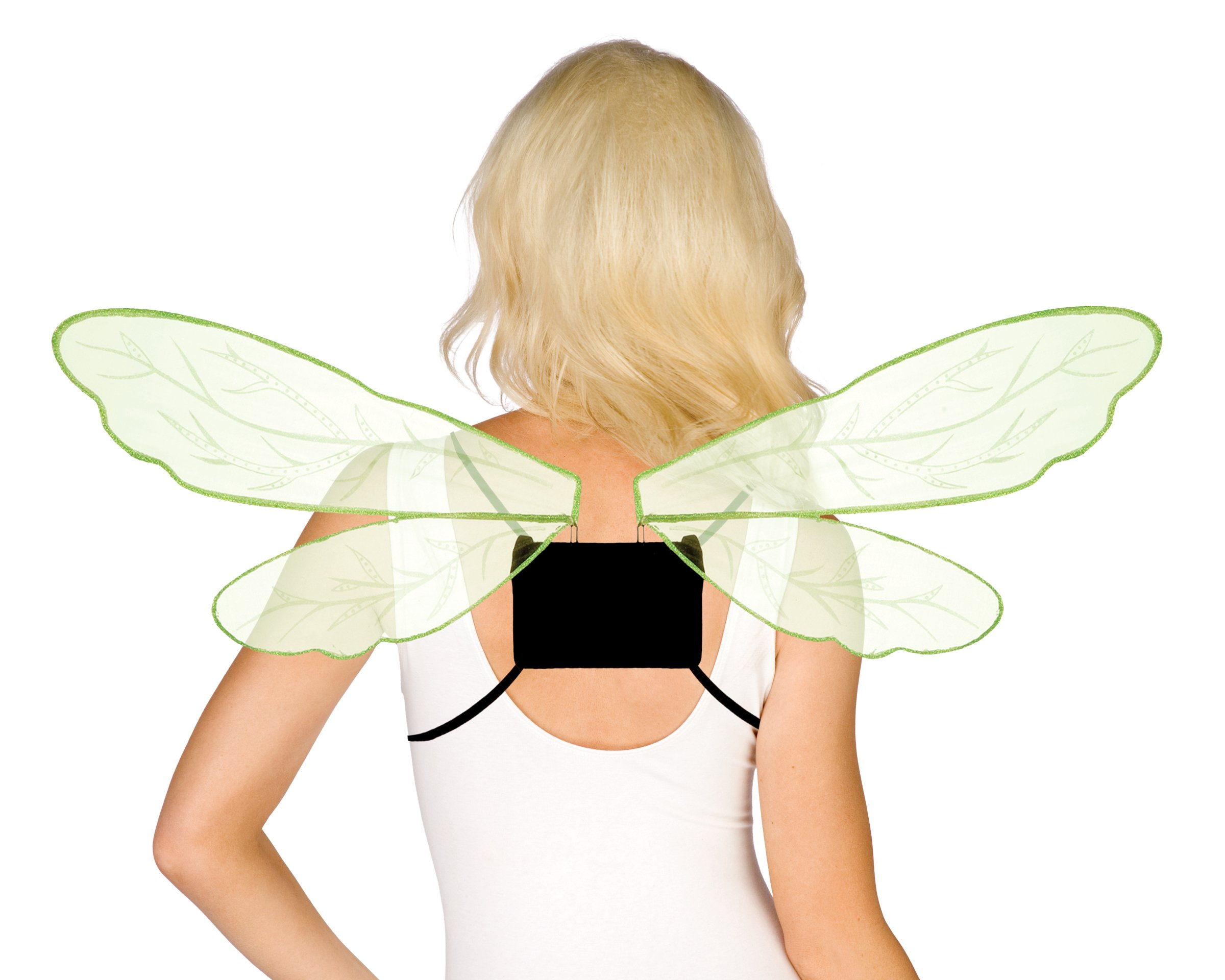 Adjustable Green Cellophane Wings