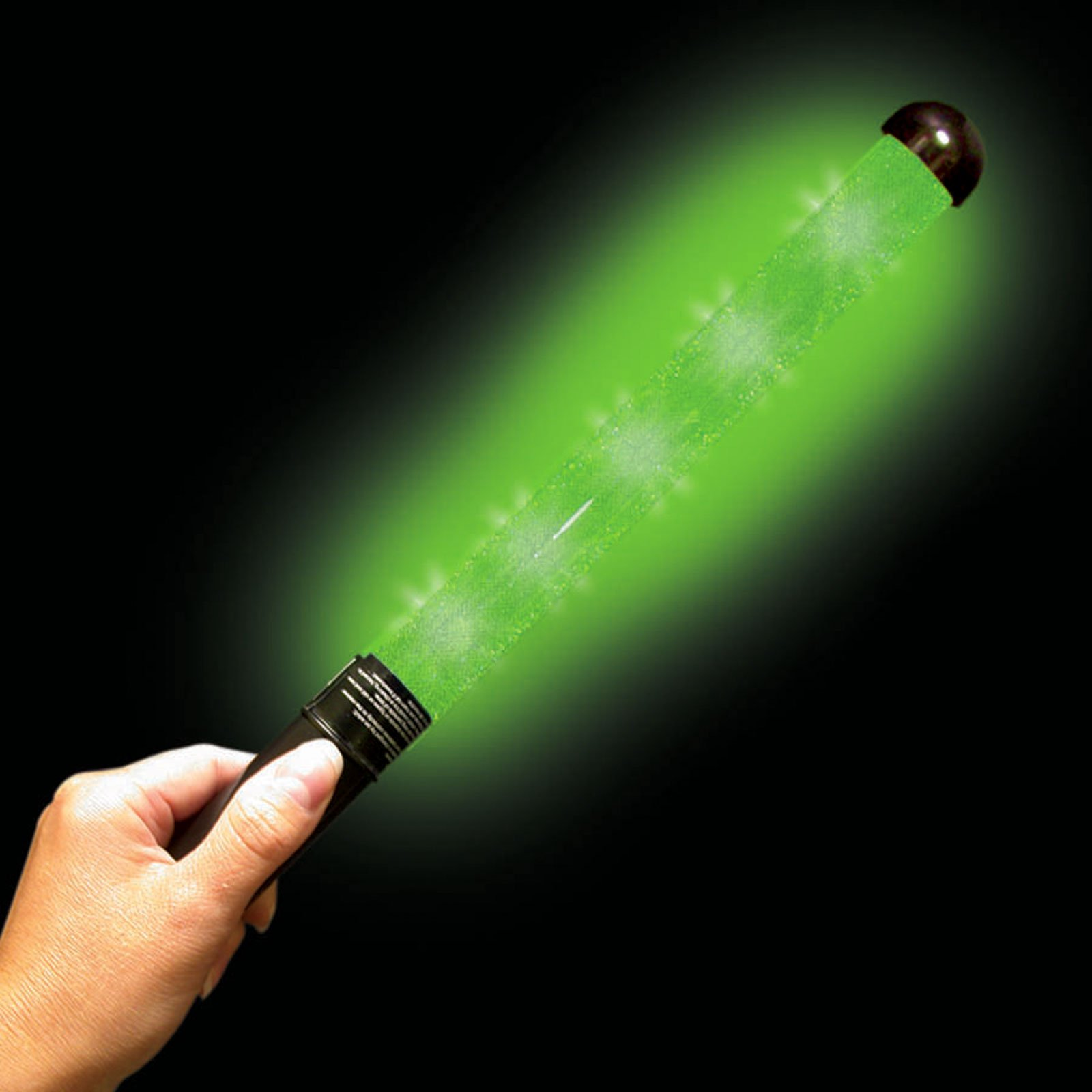 Green Glitter LED Patrol Light Wand