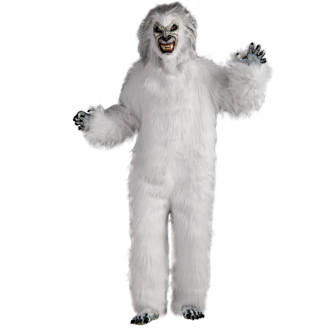 Super Deluxe White Yeti Adult Costume
