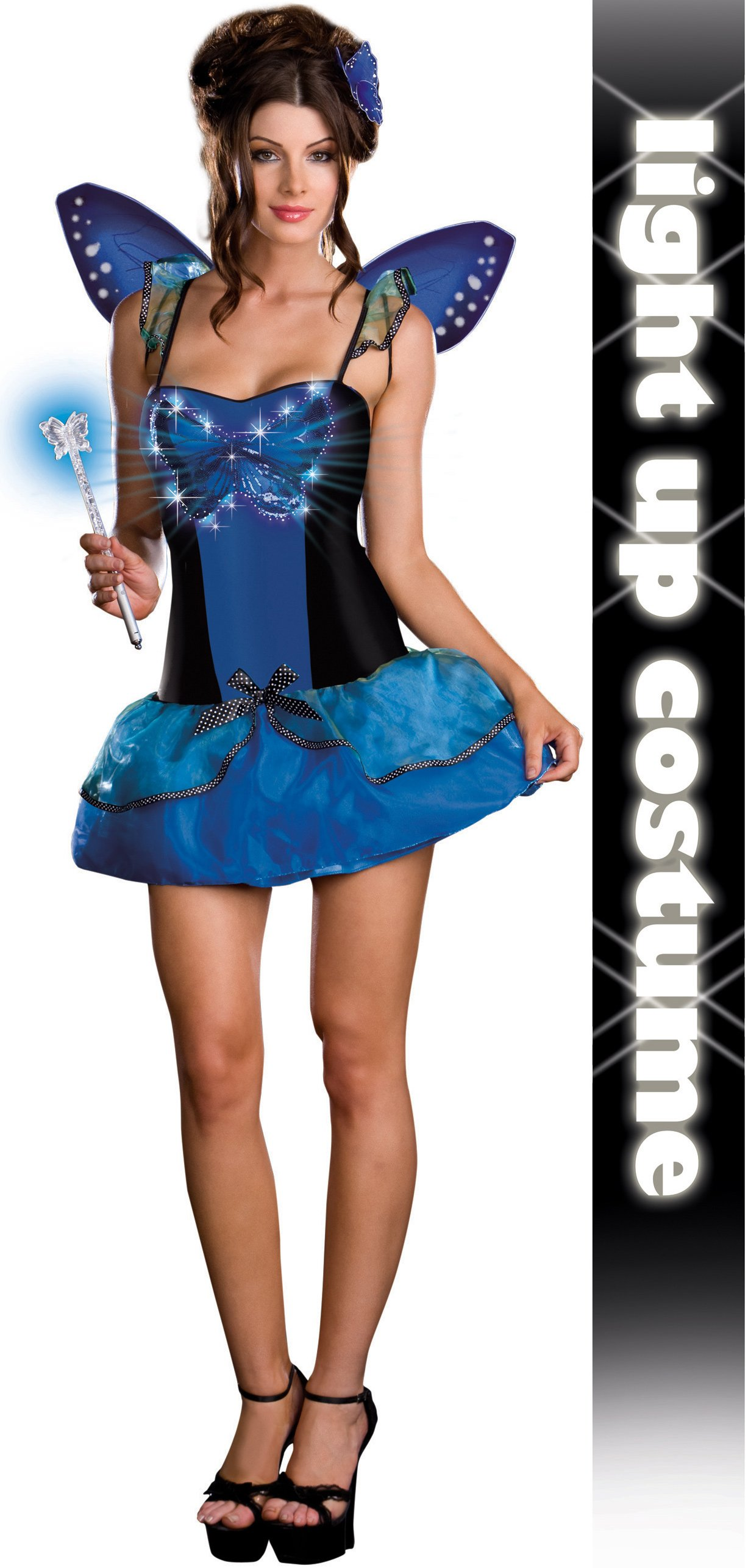 Blue Butterfly Beauty (Light-Up) Adult Costume