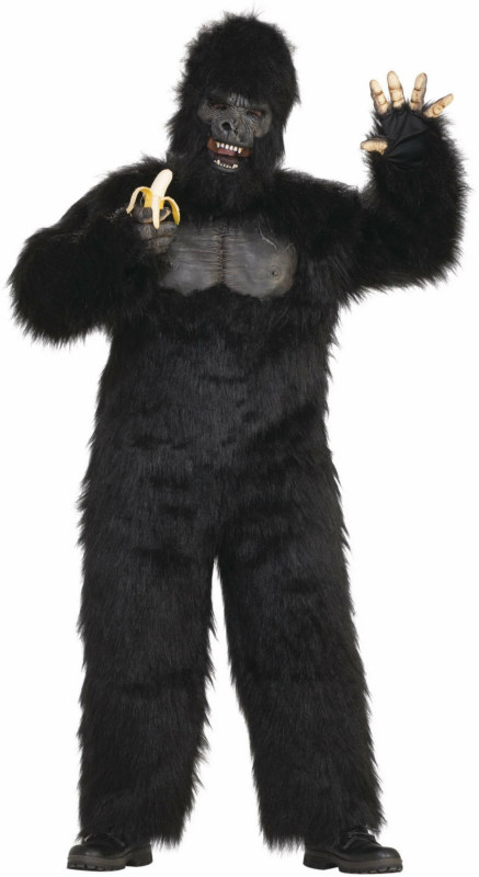 Moving-Jaw Gorilla Adult Costume