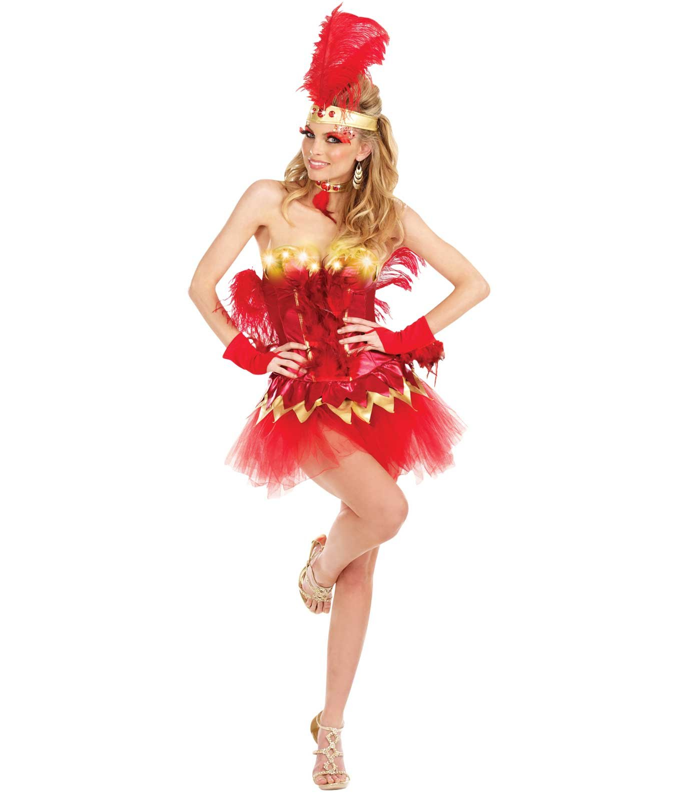 Fabulous red Firebird Light Up Adult Costume