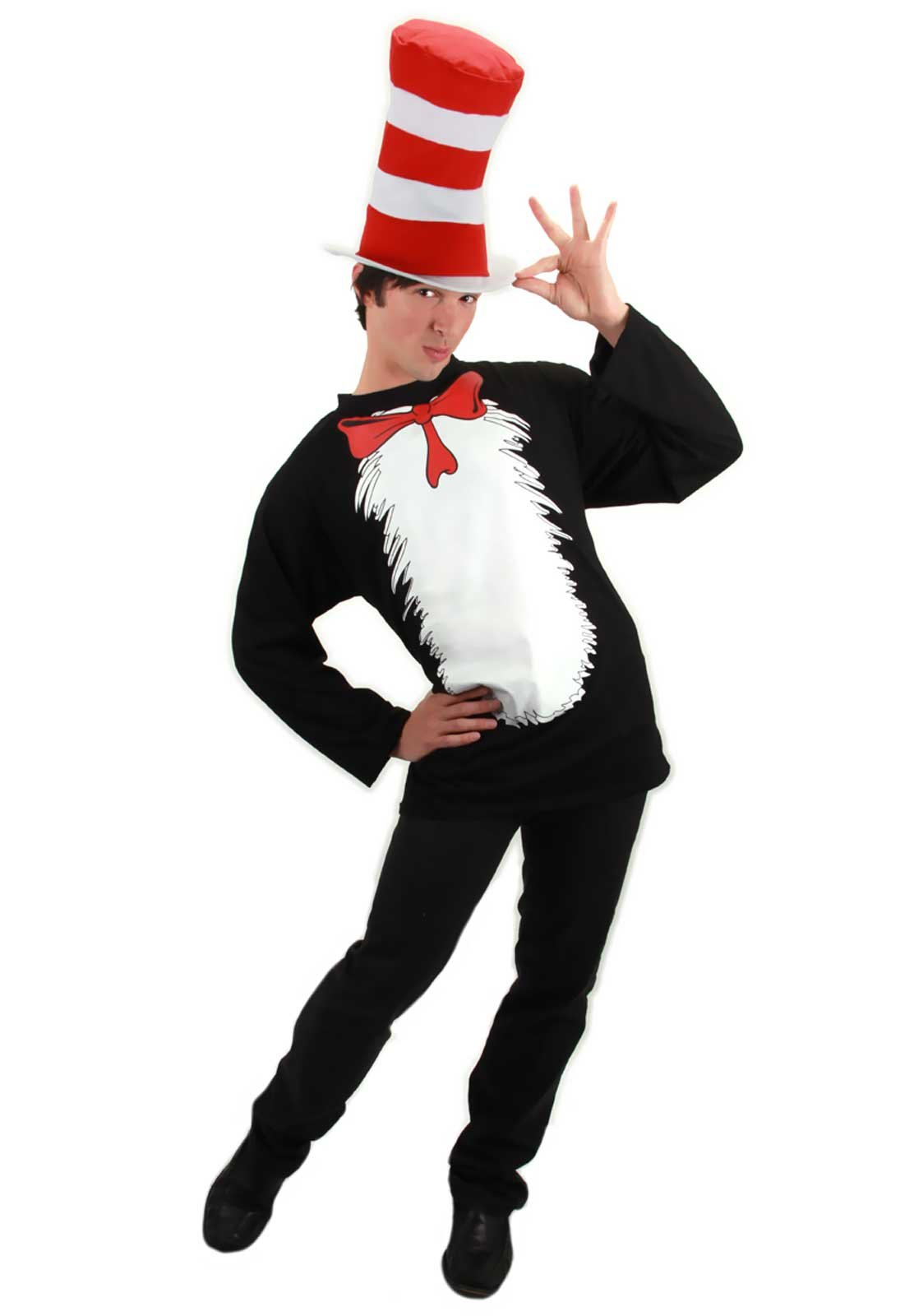Officially Licensed Dr. Seuss Cat In The Hat Adult Costume