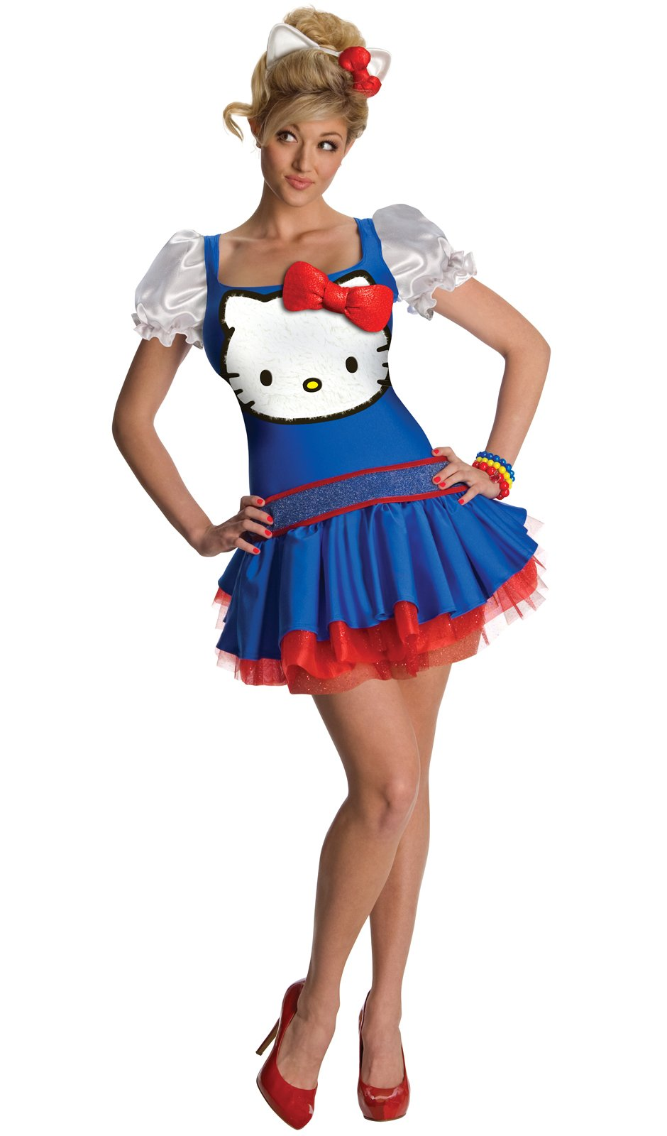 Hello Kitty Blue Dress Adult Costume
