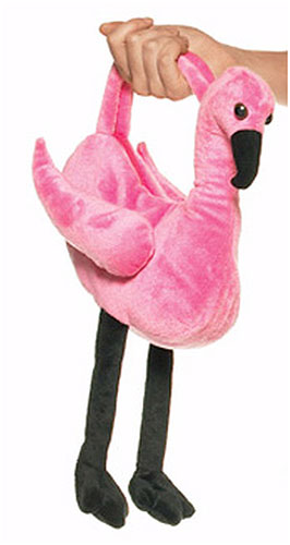 Plush Flamingo Purse