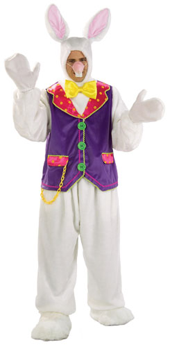 Deluxe White Rabbit Adult Costume