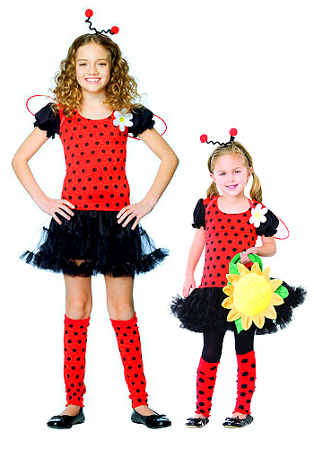 XS Girls Lady Bug Costume