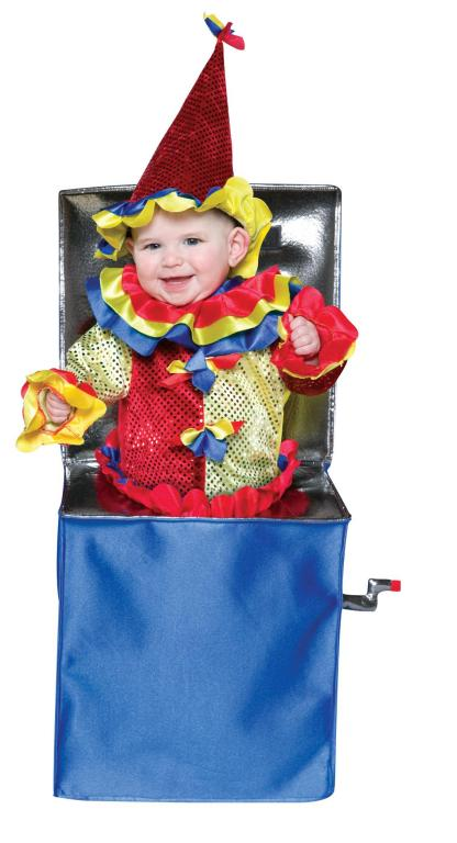 Jack In The Box Bunting with Hat Infant Costume