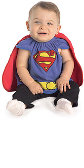 Superman Costume Bib