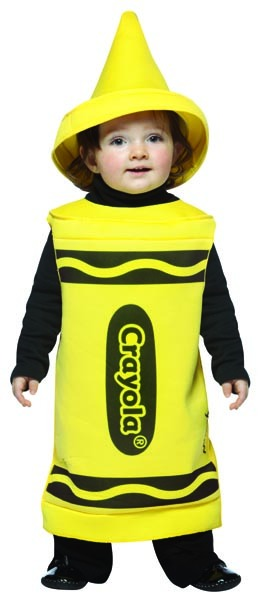 Crayola Yellow Crayon Costume