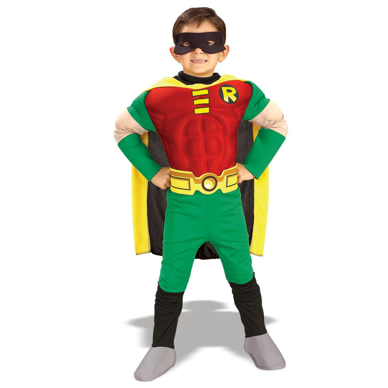 Teen Titans DC Comics Robin Muscle Chest Deluxe Toddler/Child Co