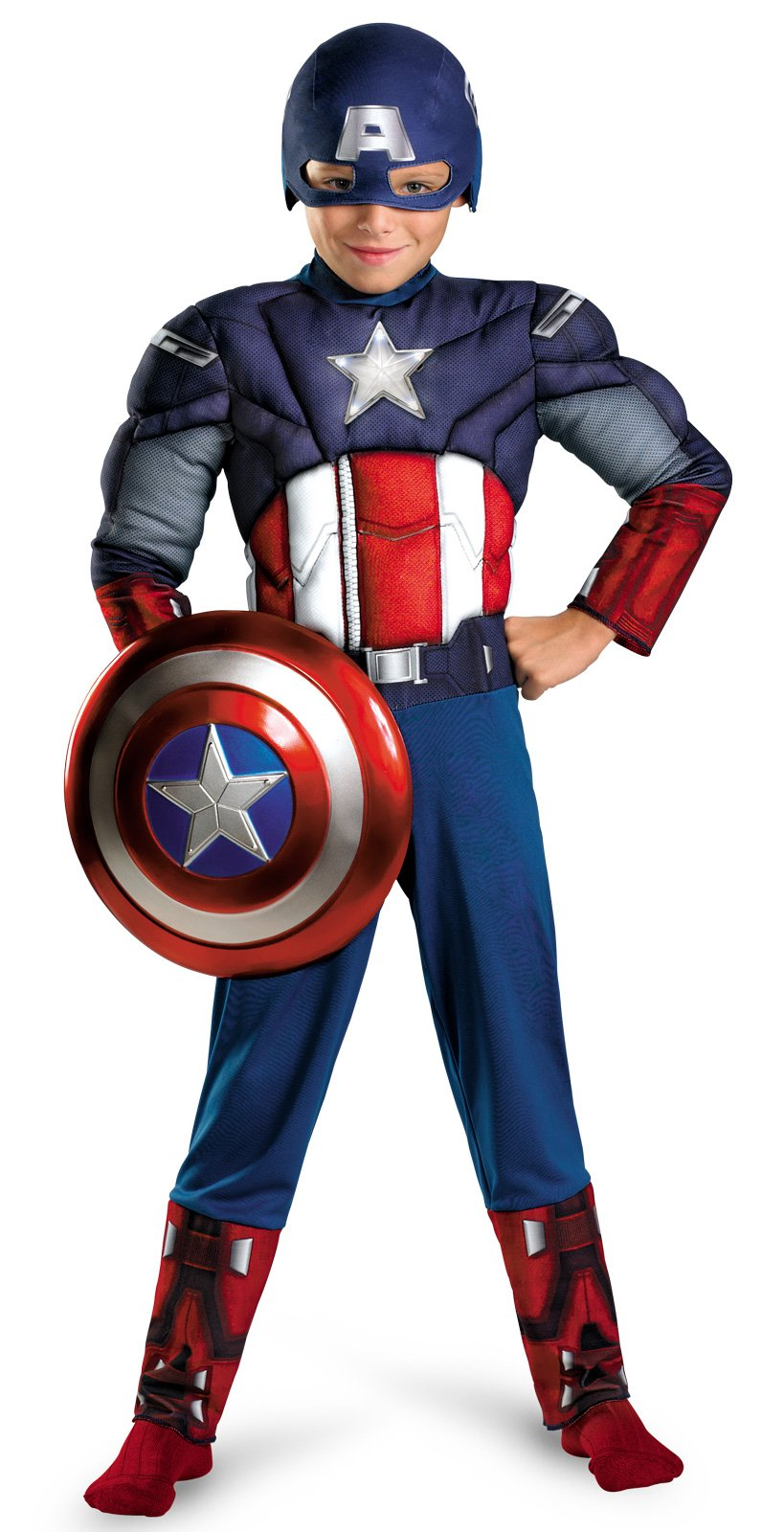 The Avengers Captain America Light Up Muscle Chest Child Costume