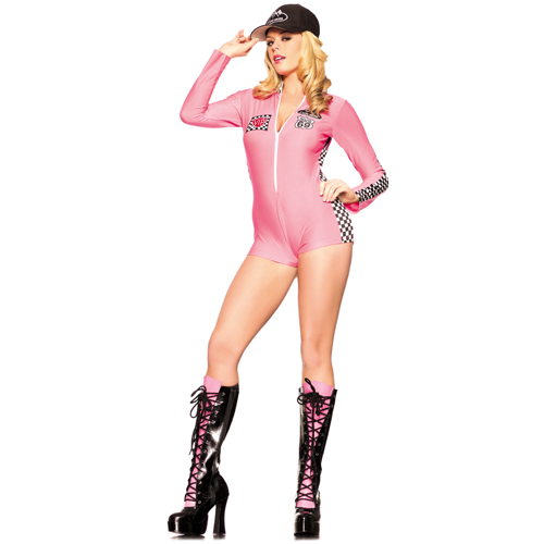 Sexy Pink Racer Costume