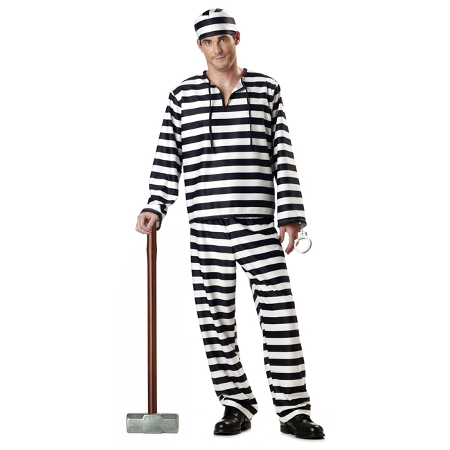 Men's Jailbird Prisoner Costume