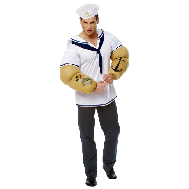 Adult Sailor Shirt with Detachable Arms