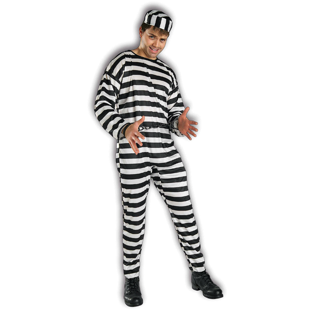 Prisoner Uniform Adult Costume