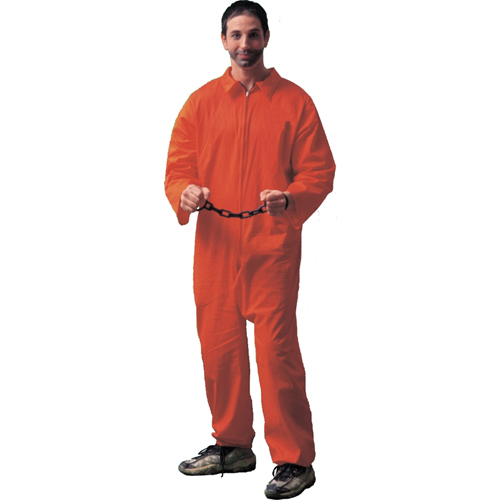 Jail Bird Convict Adult Costume