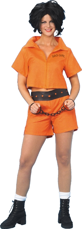 Bad Girl Convict Adult Costume