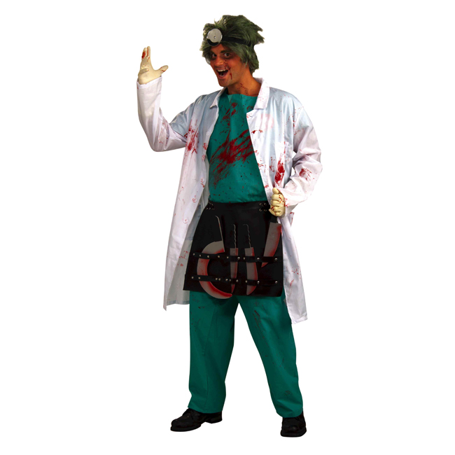 Demented Scary Surgeon Adult Costume