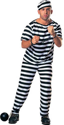 Prisoner Man Adult Costume