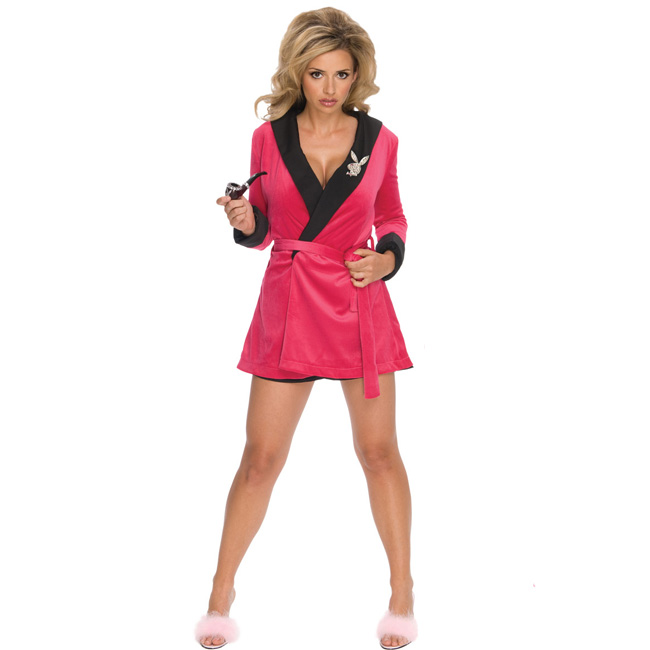 Pink Sexy Girlfriend Playboy Adult Costume