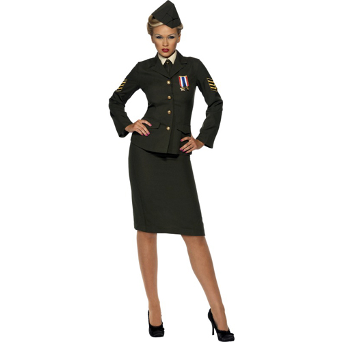 Wartime Military Officer Sexy Adult Costume