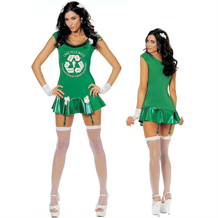 Go Green Girl Adult Costume