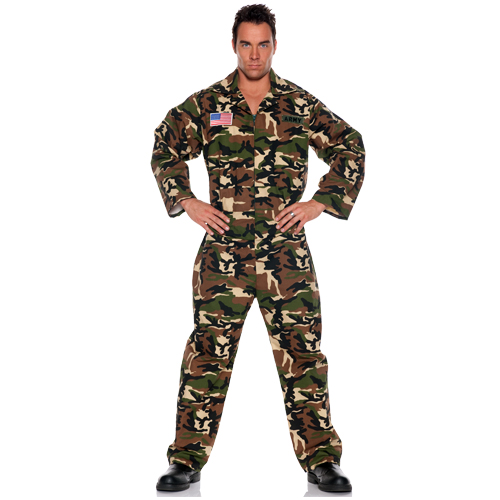 Army Jumpsuit Military Adult Costume