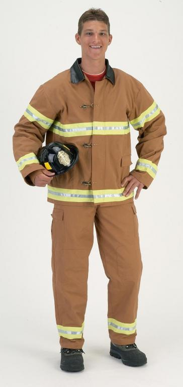 Fire Fighter Tan Adult Costume