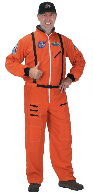 Astronaut Suit Orange Adult Costume