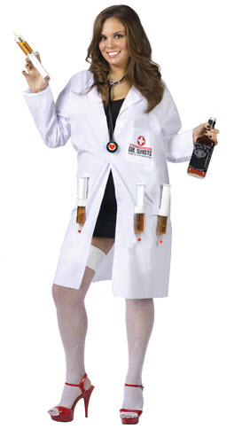 Sexy Dr. Shots Plus Size Adult Costume