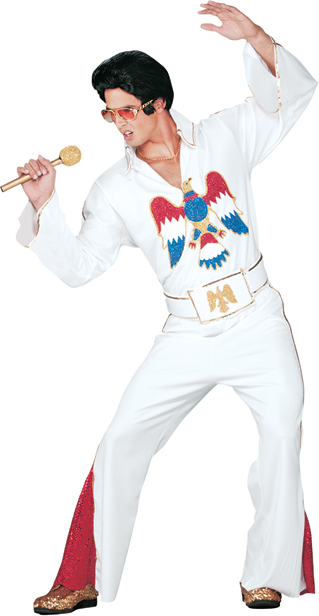 Elvis White Jumpsuit Adult Costume